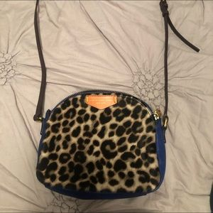 MARC JACOBS DOWNTOWN LOLA LEOPARD CROSSBODY BAG